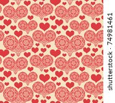 romantic seamless pattern with... | Shutterstock .eps vector #74981461