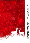 christmas with snowflakes on a... | Shutterstock .eps vector #749820319