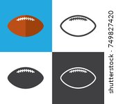 american football icons | Shutterstock .eps vector #749827420