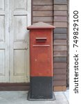 Old Grunge Red Postbox With...