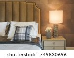 beautiful reading lamp and... | Shutterstock . vector #749830696