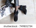 female winter boots | Shutterstock . vector #749831734