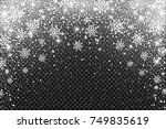 snow frost effect on... | Shutterstock .eps vector #749835619