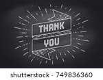 thenk you. ribbon banner with... | Shutterstock .eps vector #749836360