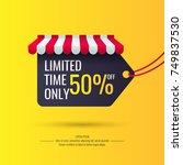 original sale poster for... | Shutterstock .eps vector #749837530