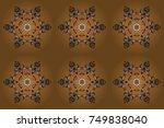 snowflake ornament object.... | Shutterstock . vector #749838040