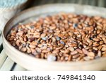 not roasted cocoa beans | Shutterstock . vector #749841340