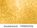 elegant gold glitter sparkle... | Shutterstock . vector #749842456
