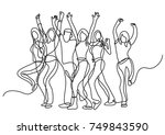 continuous line drawing of... | Shutterstock .eps vector #749843590