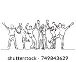 continuous line drawing of... | Shutterstock .eps vector #749843629