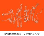 continuous line drawing of four ...   Shutterstock .eps vector #749843779