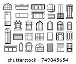 vector illustrations set with... | Shutterstock .eps vector #749845654