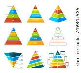 set of different triangles and... | Shutterstock .eps vector #749845939