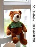 Teddy Bear Sitting At The Glas...
