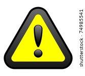 yellow warning sign | Shutterstock . vector #74985541