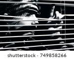 closeup shot of sexy young... | Shutterstock . vector #749858266