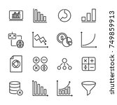 simple collection of data... | Shutterstock .eps vector #749859913