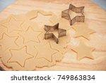 merry christmas baking... | Shutterstock . vector #749863834