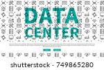 data  server  centre website... | Shutterstock .eps vector #749865280