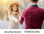 come with me. horizontal shot... | Shutterstock . vector #749870290