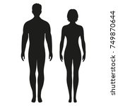 silhouettes of men and women on a white background   Shutterstock vector #749870644