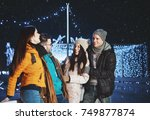 young people outdoors having... | Shutterstock . vector #749877874