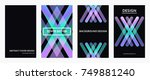 futuristic design color covers...   Shutterstock .eps vector #749881240