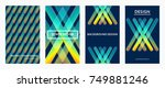 futuristic design color covers... | Shutterstock .eps vector #749881246