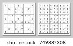 sudoku game with the answer | Shutterstock .eps vector #749882308