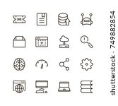 coding icon set. collection of... | Shutterstock .eps vector #749882854