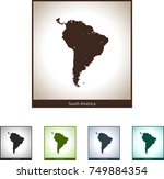 map of south america | Shutterstock .eps vector #749884354