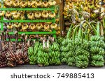 just bananas. a store selling... | Shutterstock . vector #749885413