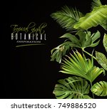 vector botanical banner with... | Shutterstock .eps vector #749886520