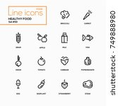 healthy food   line design... | Shutterstock .eps vector #749888980