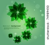 abstract green flower... | Shutterstock .eps vector #74989450