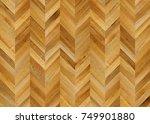 fragment of parquet floor.  | Shutterstock . vector #749901880