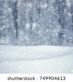 winter background  falling snow ... | Shutterstock . vector #749904613
