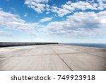 empty concrete floor and... | Shutterstock . vector #749923918