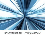 railroad track and cityscape of ... | Shutterstock . vector #749923930