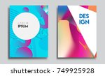 covers templates set with... | Shutterstock .eps vector #749925928