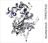 abstract tatoo fish  vector... | Shutterstock .eps vector #749927410