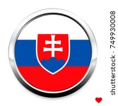 button flag of slovakia in a...   Shutterstock .eps vector #749930008