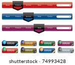 navigation menu and internet... | Shutterstock .eps vector #74993428