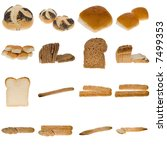 collection of freshly baked... | Shutterstock . vector #7499353