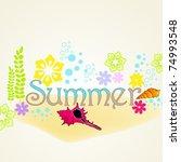 vector cute summer illustration   Shutterstock .eps vector #74993548