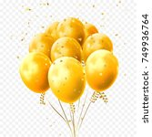 yellow balloons and golden star