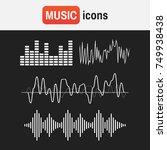 wave sound music. sound waves... | Shutterstock . vector #749938438