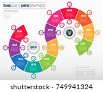 timeline  business infographic... | Shutterstock .eps vector #749941324
