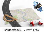 3d illustration of bright map... | Shutterstock . vector #749941759