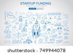 venture capital funding concept ... | Shutterstock . vector #749944078